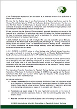 Letter on the name of President of Russia Vladimir Putin from ICOMOS. Page 02