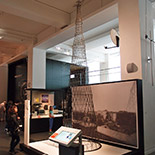 The model of the Shukhov radio tower at a scale of 1:30 is fabricated with the assistance of Vladimir Fyodorovich Shukhov, great grandson of V.G. Shukhov and president of the Foundation for science, culture and art «Shukhov Tower». The model was fabricated by the British craftsman Henry Milner.